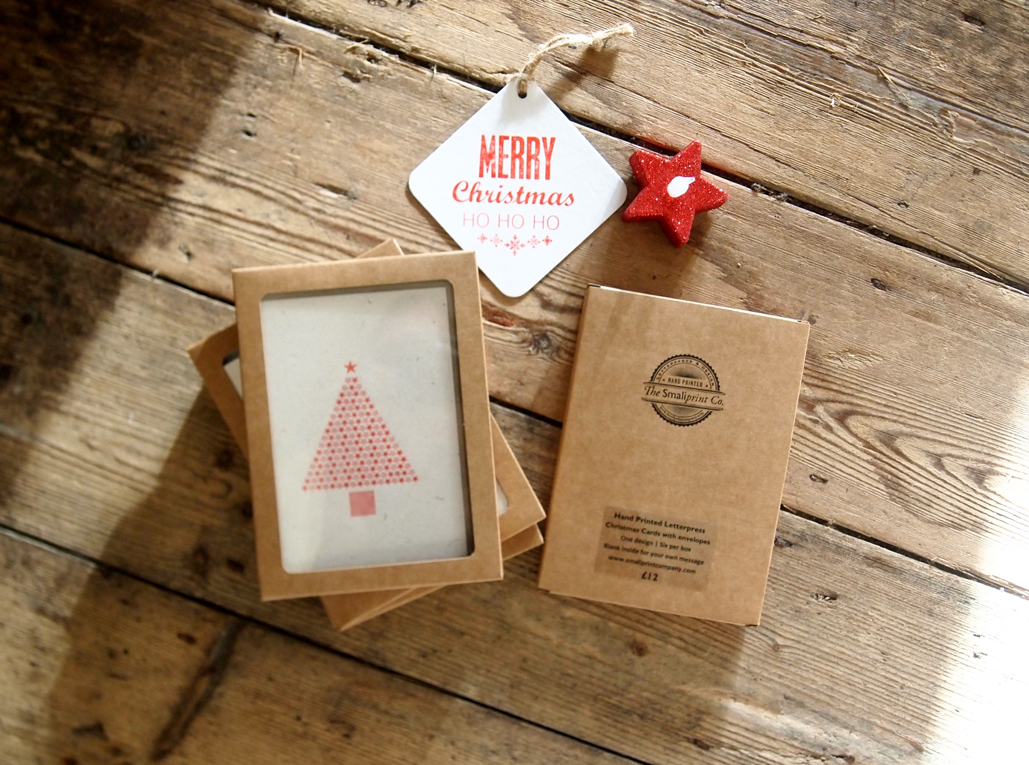 Starry Christmas Tree Box of Cards