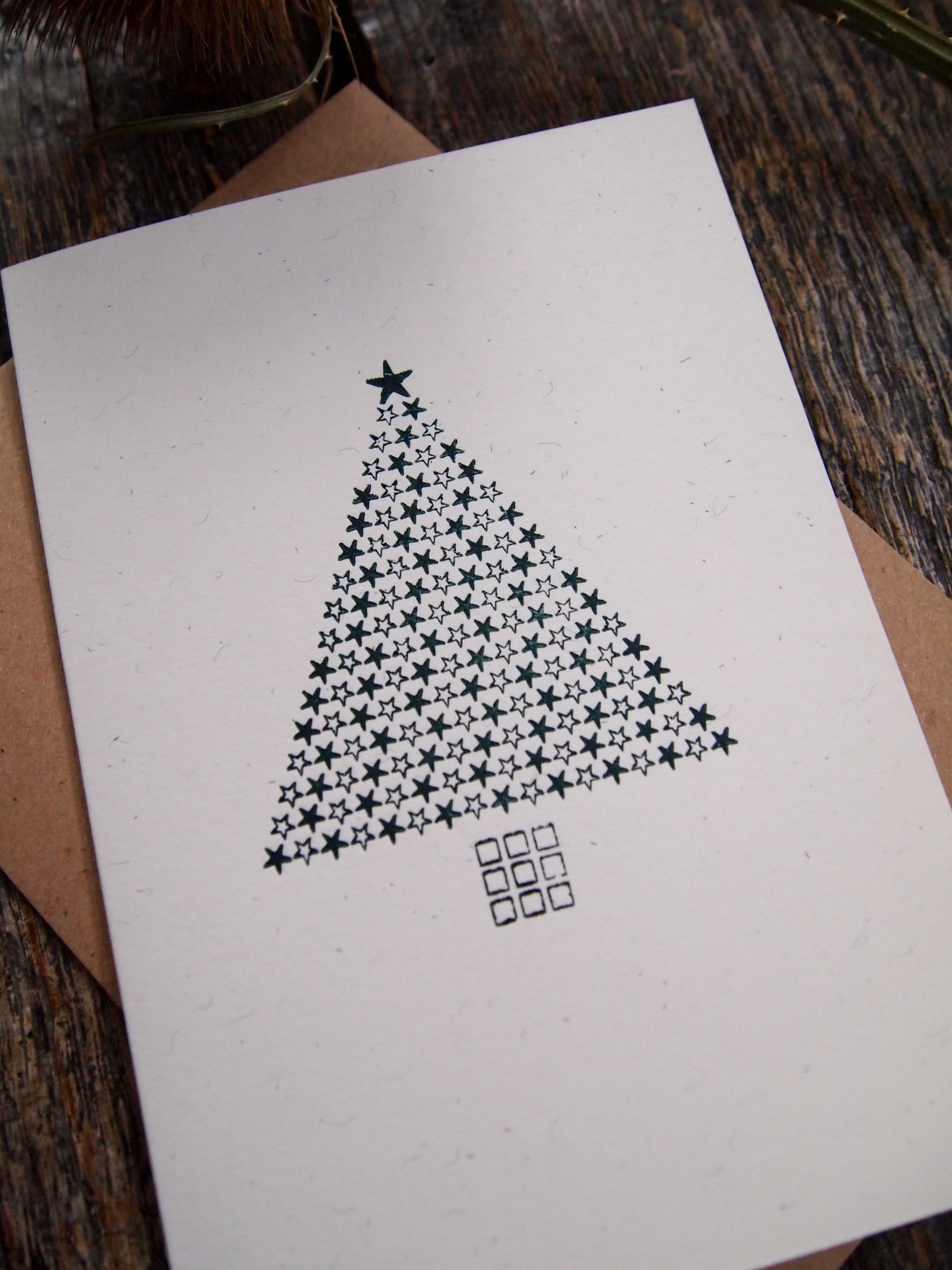Starry Christmas Tree Card - Close Up