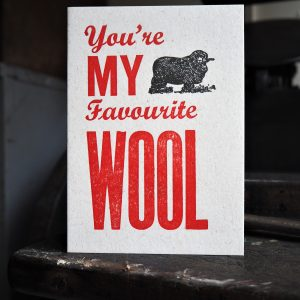 Favourite Wool Valentines Card