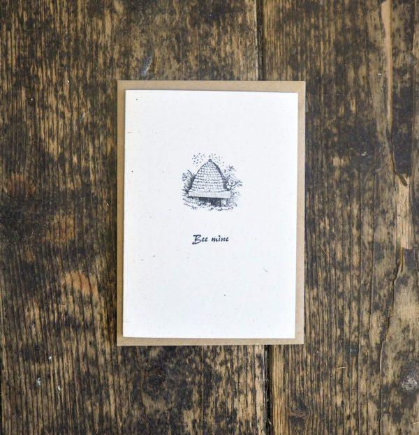 Bee Mine Letterpress Card