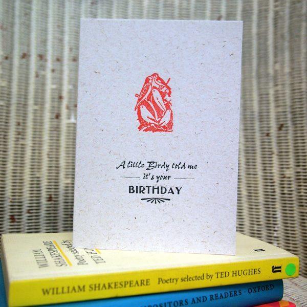 Little Birdy Birthday Card