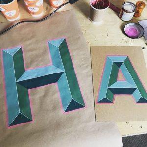 Bevelled Letters Workshop