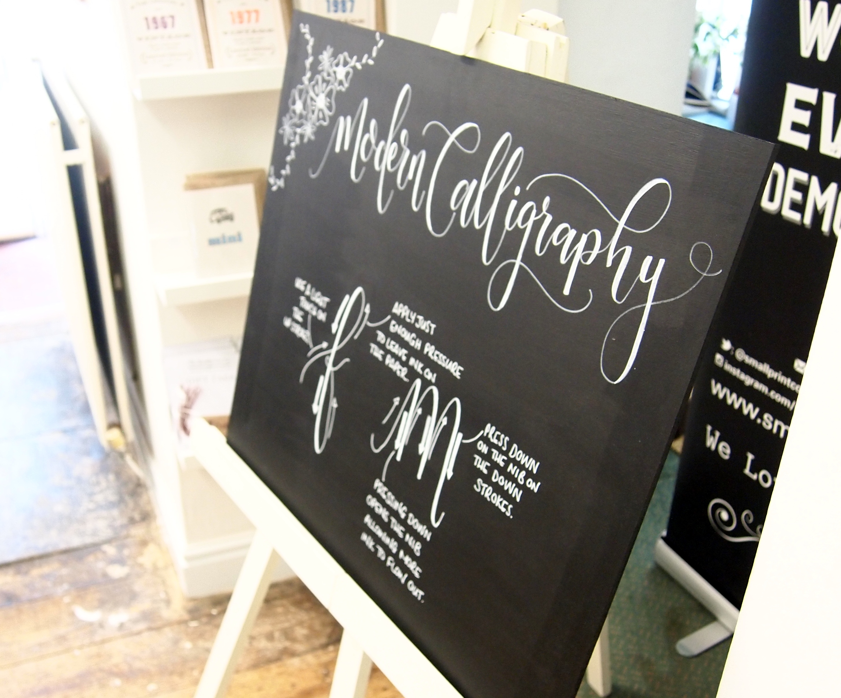 Mint Green Calligraphy Workshop
