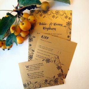 Black and Gold Art Deco Wedding Invitations