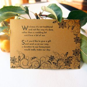Black and Gold Art Deco Wedding Gift Cards