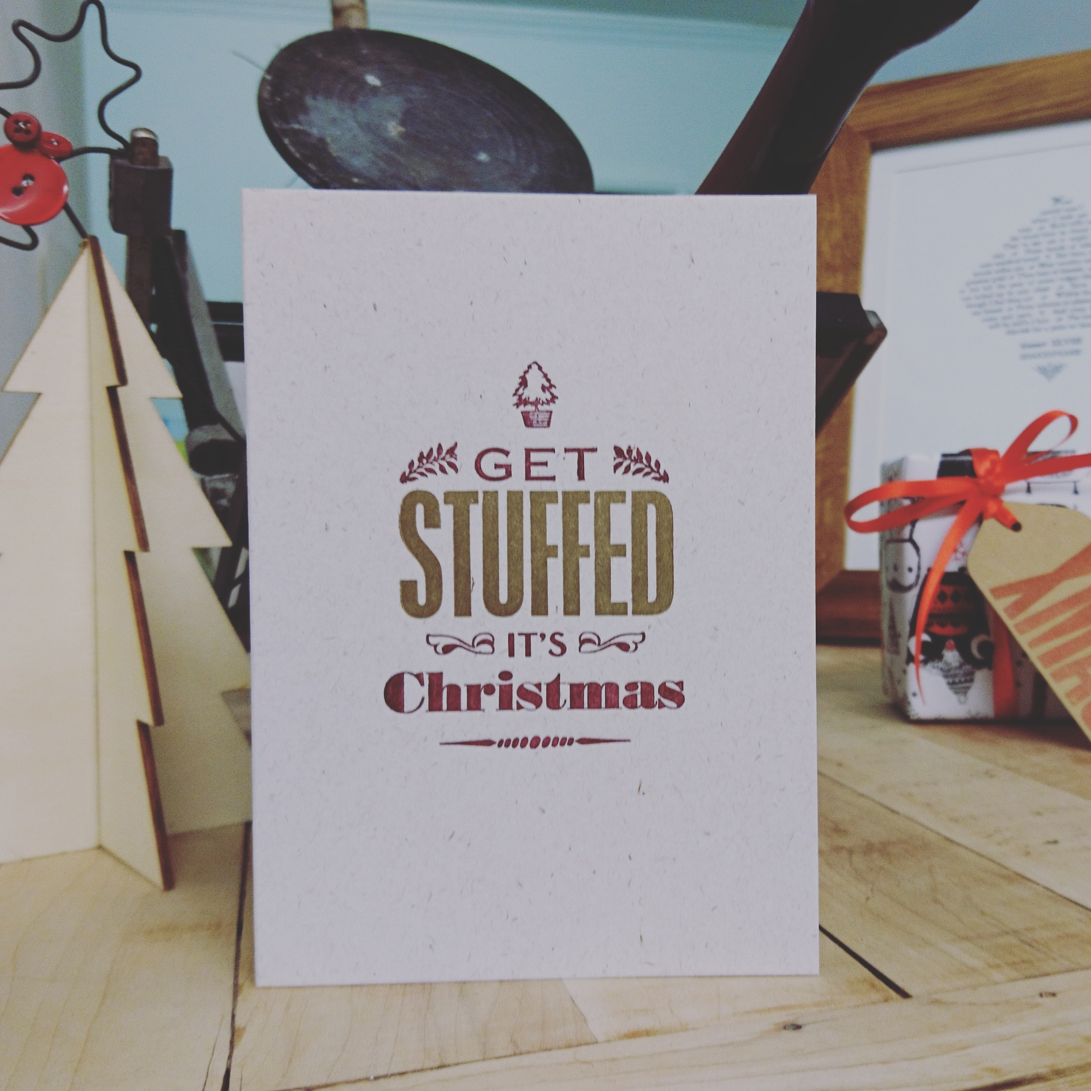 Get Stuffed Christmas Card