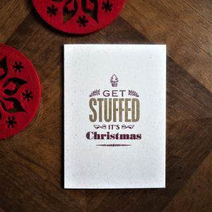 Get Stuffed Christmas Letterpress Card