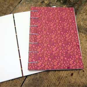 Coptic Stitch Notebook opens flat