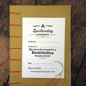 Bookbinding Workshop Gift Voucher