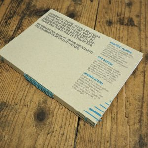 Long stitch note / sketch book with recycled cover