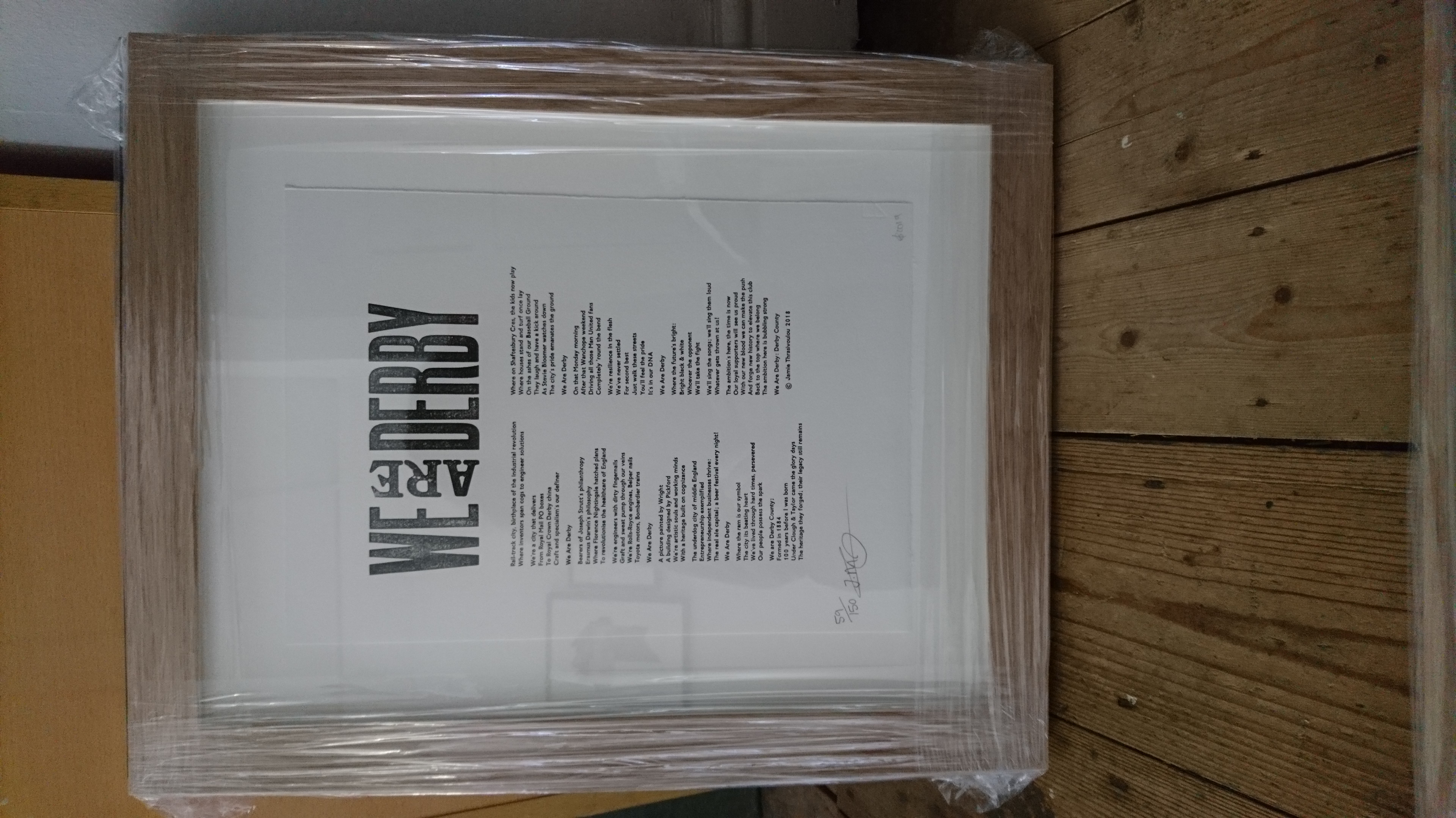 Frame for We Are Derby - beech
