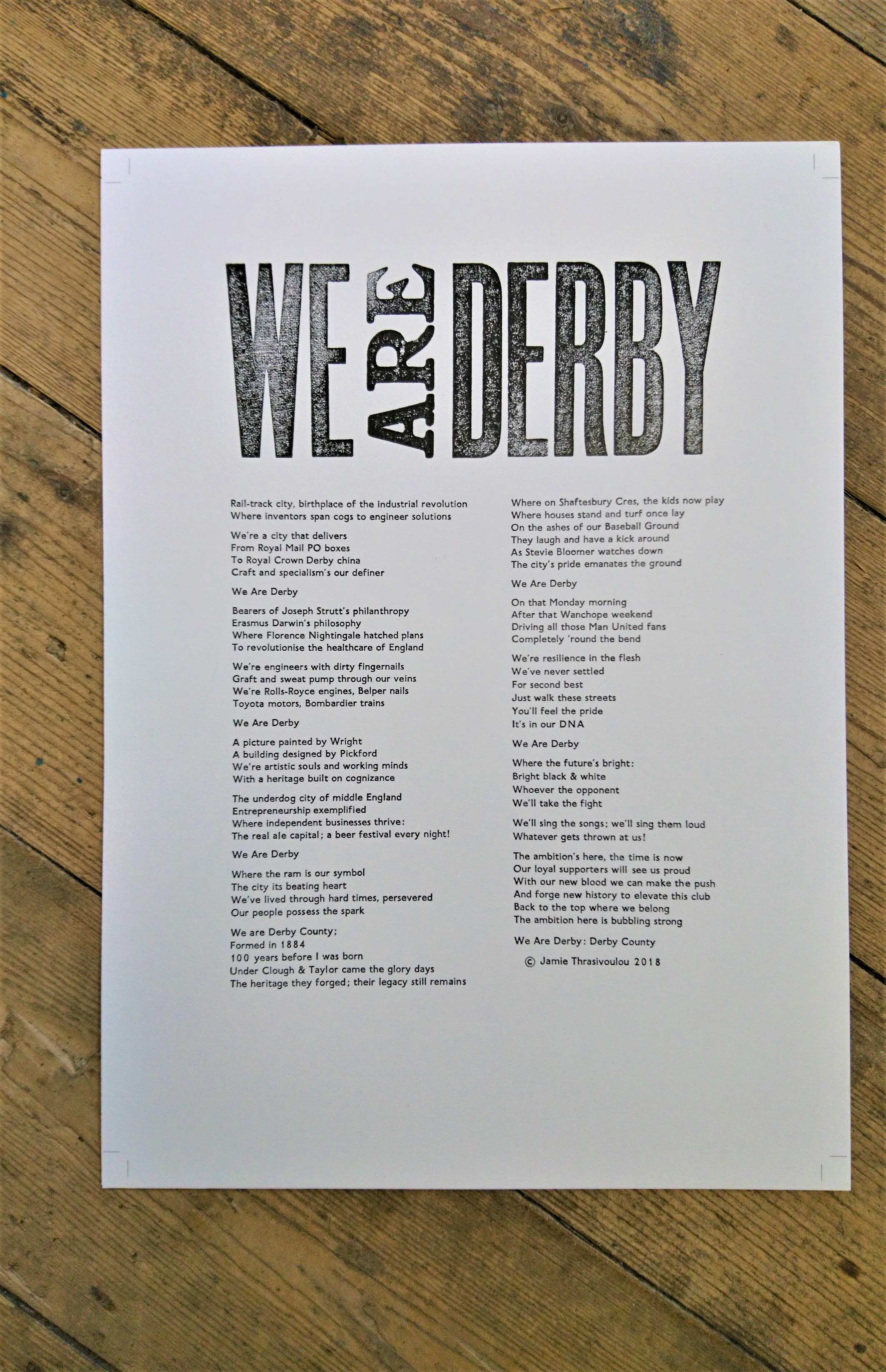 We Are Derby digital print
