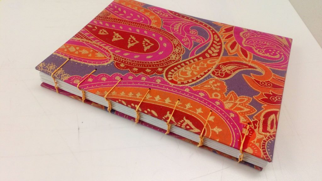 Coptic bound book made by Jemma