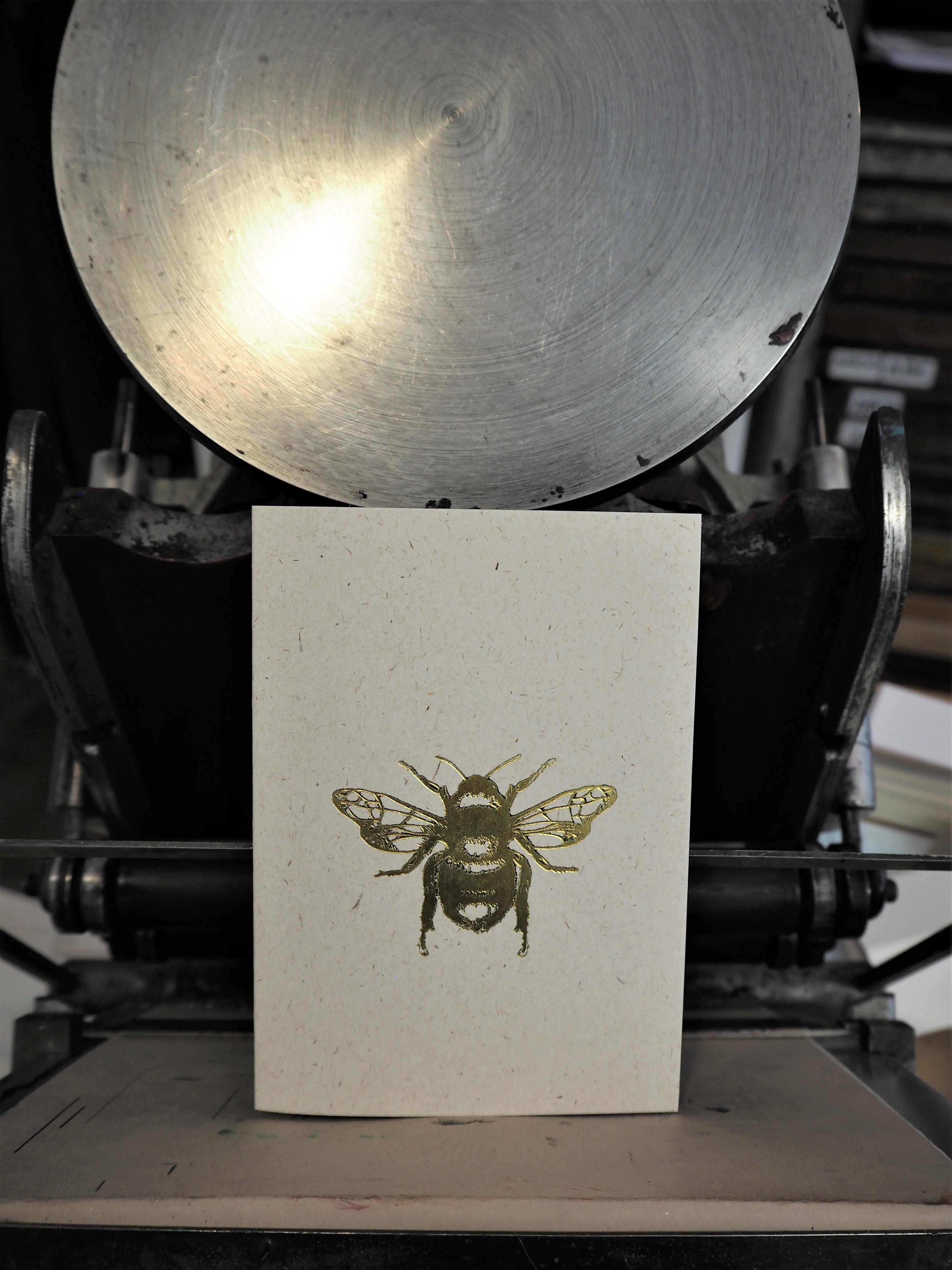 Shiny Gold Bee Card
