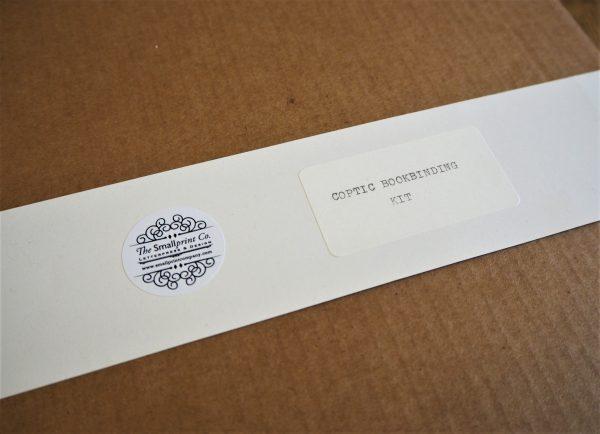 Coptic Bookbinding kit label