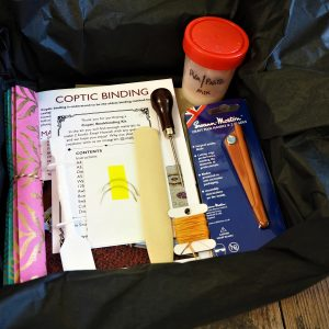 Coptic Bookbinding kit contents