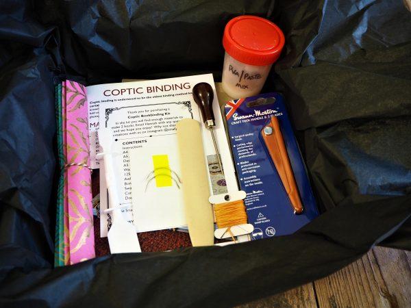 Coptic Bookbinding kit contents