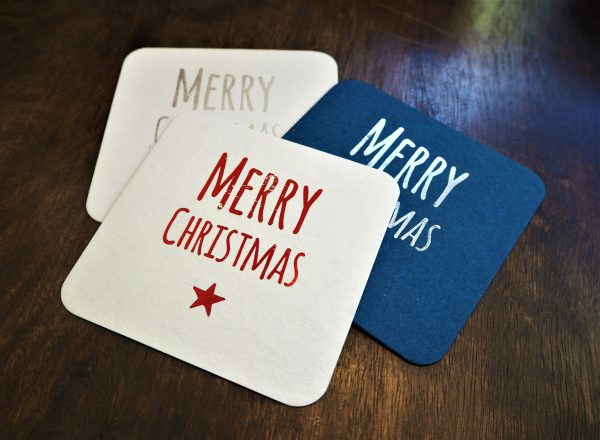 Merry Christmas Coaster Decorations