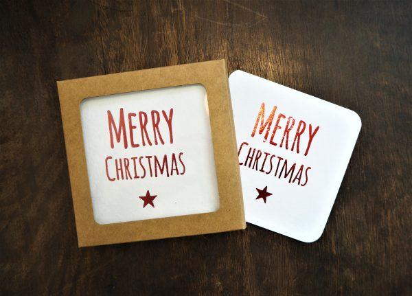 Merry Christmas Coaster Gift Tags