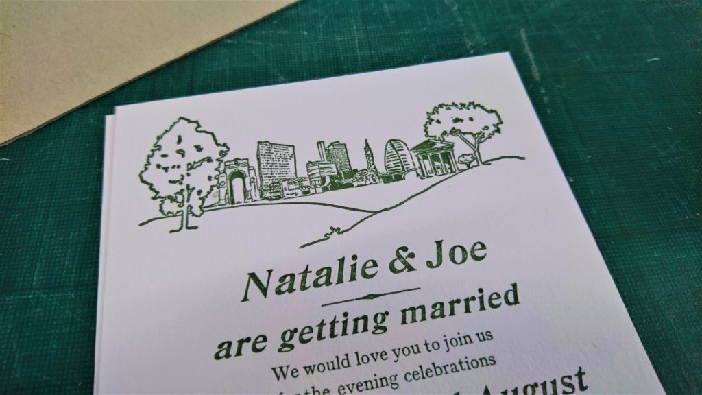 Letterpress Wedding Stationery: Illustrated Invitation