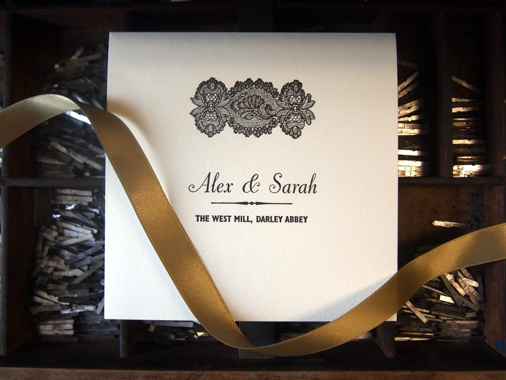 Letterpress Wedding Stationery: Invitation Suite