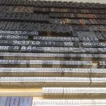 Metal type at Winterbourne Press