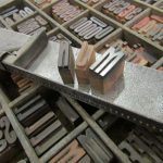 Selecting wooden type at the National Justice Museum, Nottingham