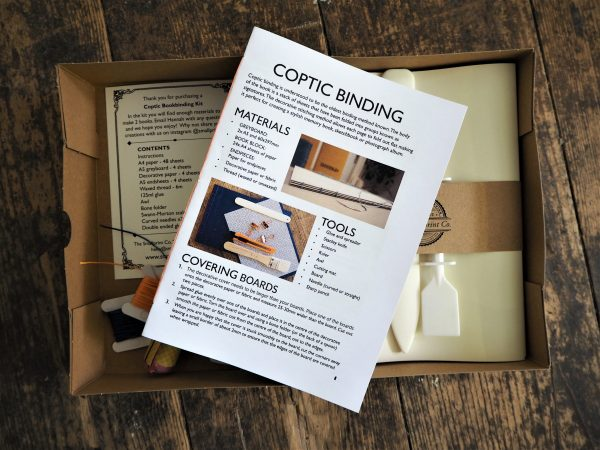 Coptic Bookbinding Kit instructions