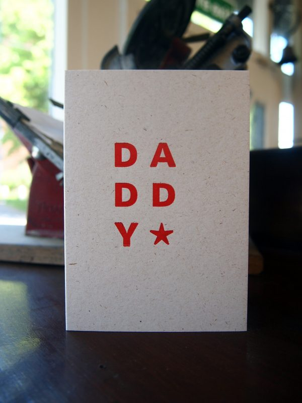 Daddy Star Greetings Card - Add a message