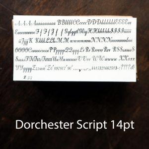 Dorchester Script 14pt