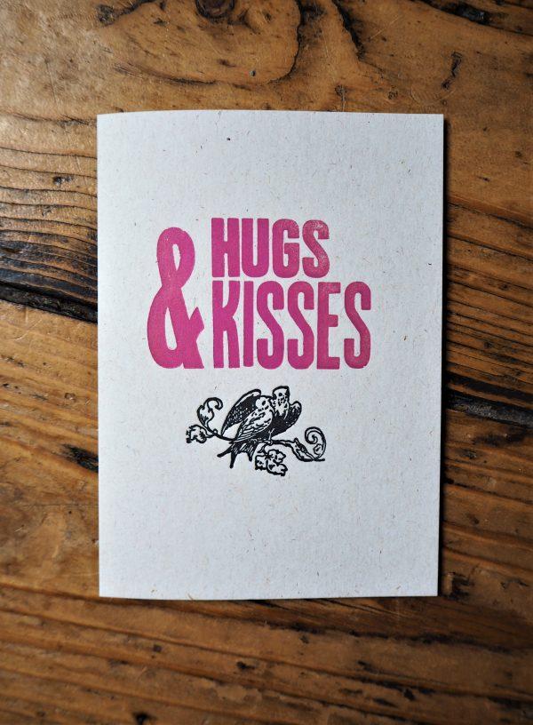 Hugs and Kisses Letterpress Card