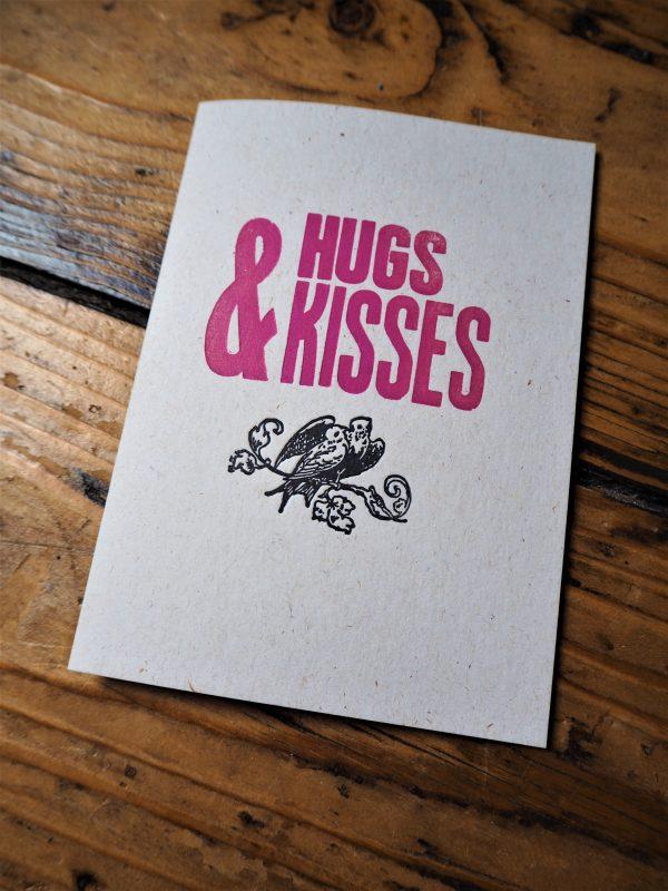 Hugs and Kisses Greetings Card