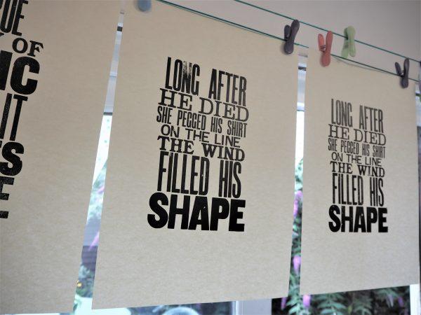 Custom Letterpress Poster Print