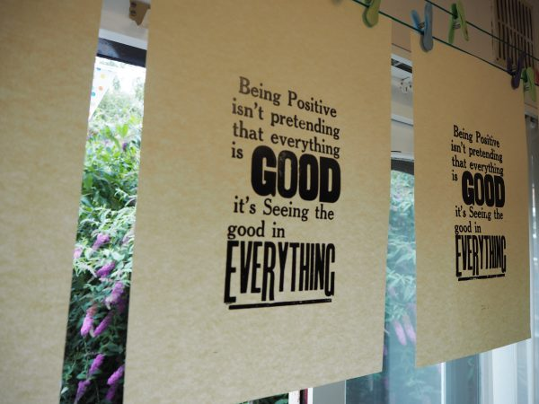Custom Letterpress Poster Quotes