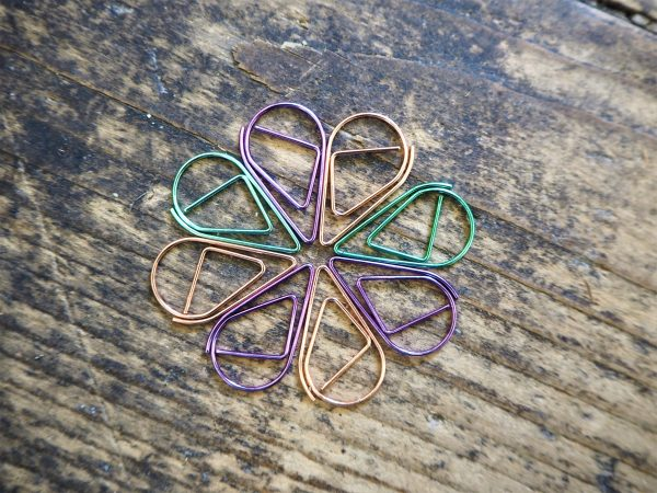 Water Droplet Paperclips - 3 colours