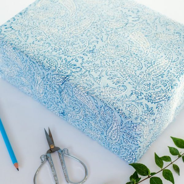 Paisley Classic Blue wrapping paper