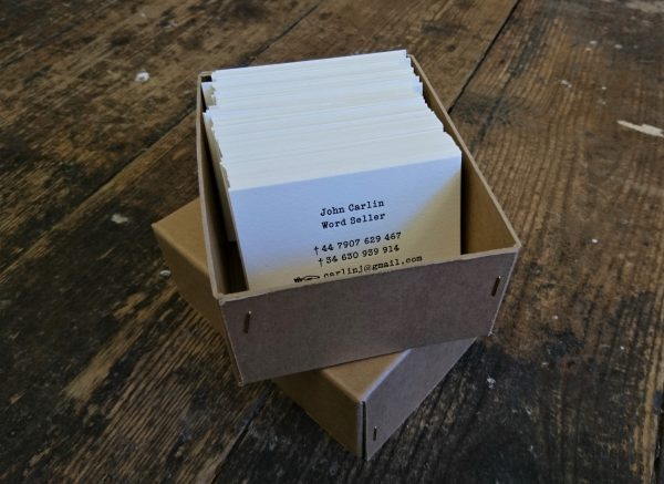 Business Cards - John Carlin Word Seller