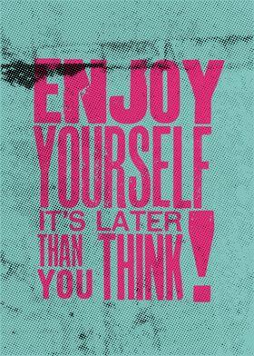 Merchandise - Metal Poster - Enjoy Yourself