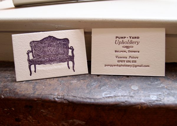 Business Cards - Upholsterer Vanessa Peters