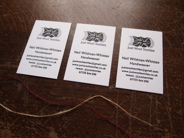 Business Cards - Weaver, Just Wool Textiles