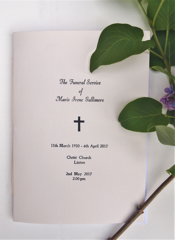Personal Stationery - Funeral Order of Service