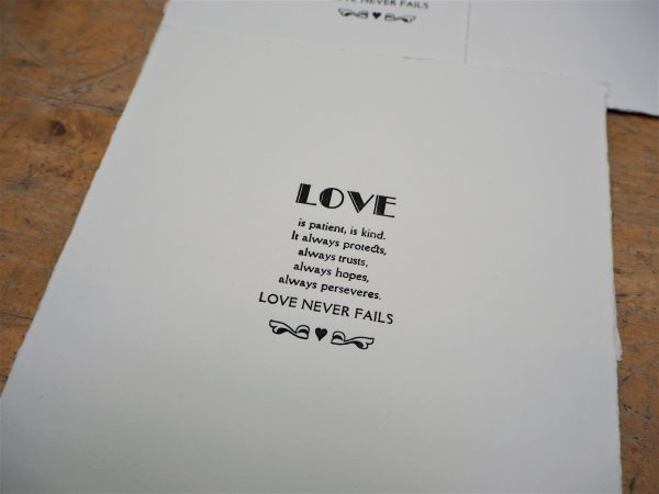 A Few Of My Favourite Things Letterpress Print
