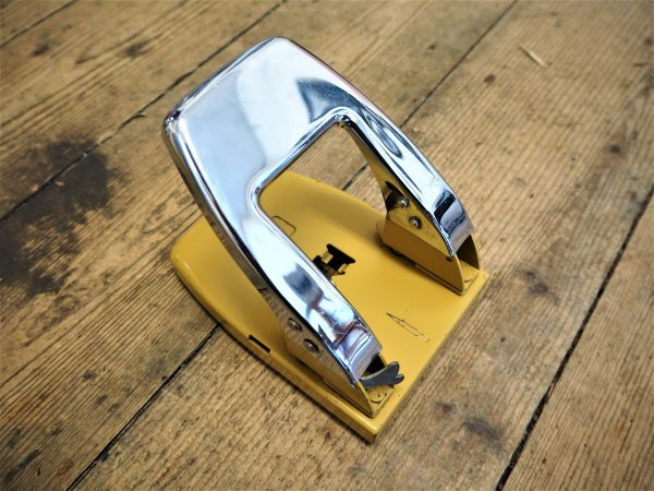 Vintage Japanese Two Hole Punch - above