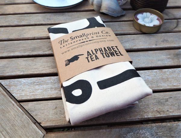 Alphabet Tea Towel - eco cotton