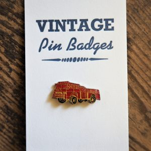 Vintage Enamel Pin Badge - Fire Engine