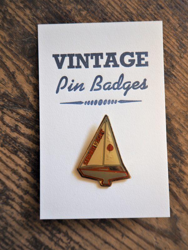 Vintage Enamel Pin Badge - Yacht