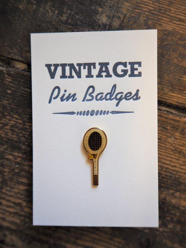 Vintage Enamel Pin Badge - Tennis