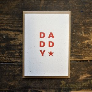Daddy Star Card