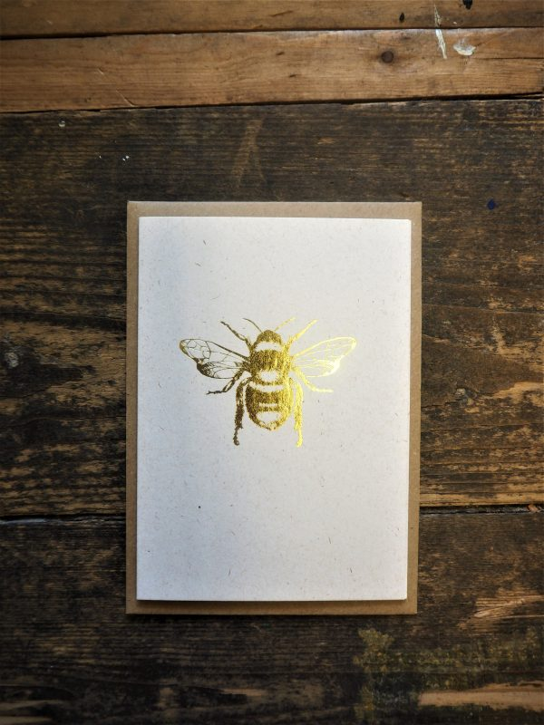 Gold Bee Card