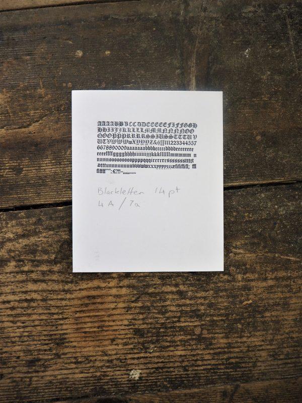 Blackletter, 14pt - 7a - 4A proof